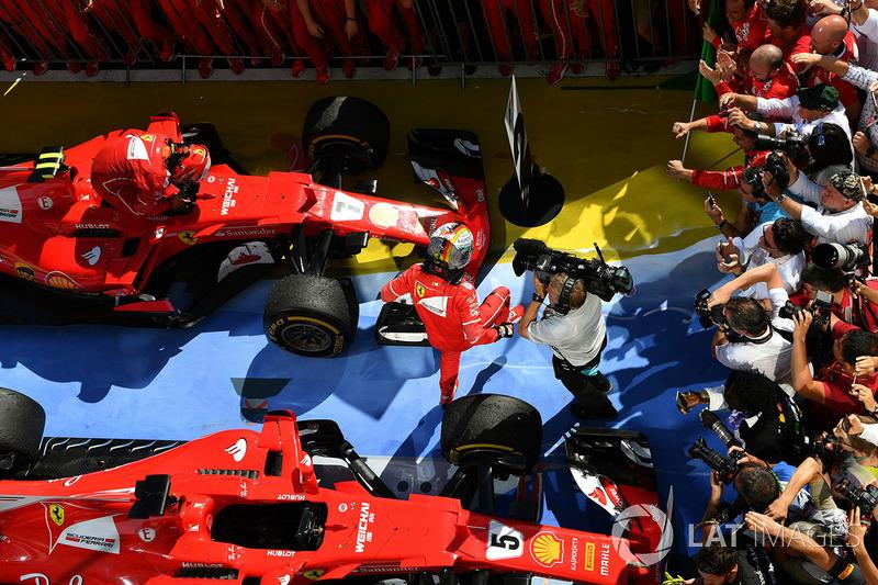 Ganador de la carrera Sebastian Vettel, Ferrari SF70-H