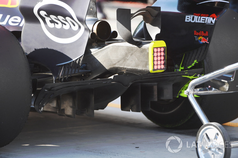 Red Bull Racing RB13 rear diffuser detail