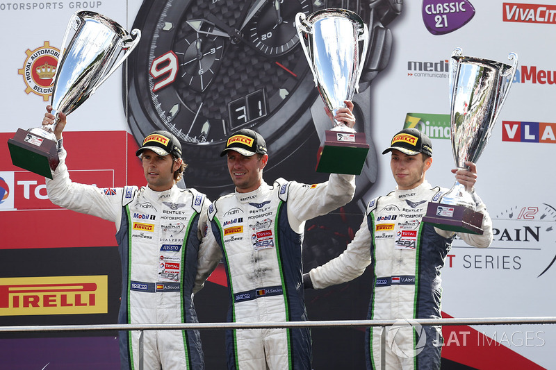 Podio: segundo lugar #8 Bentley Team M-Sport Bentley Continental GT3: Andy Soucek, Maxime Soulet, Vincent Abril