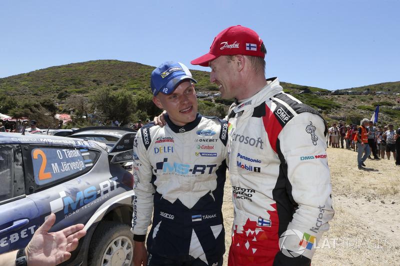 Отт Тянак, M-Sport, и Яри-Матти Латвала, Toyota