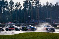 Mattias Ekström, EKS, Audi S1 EKS RX Quattro, Johan Kristoffersson, PSRX Volkswagen Sweden, VW Polo GTi, Toomas Heikkinen, EKS, Audi S1 EKS RX Quattro