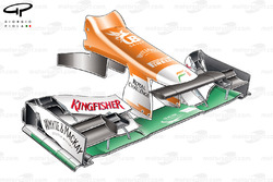 Force India VJM05 nose and turning vanes used up until the Spanish GP