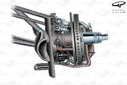 McLaren MP4-24 front brake assembly