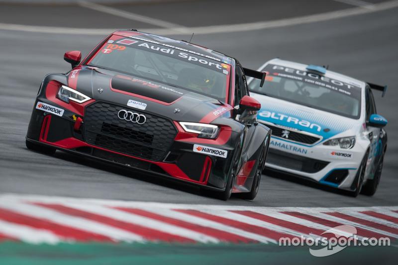 #109 Speed Factory Racing, Audi RS3 LMS: Jesus Fuster, Miguel Abello, Mirko van Oostrum, Jaime Fuster