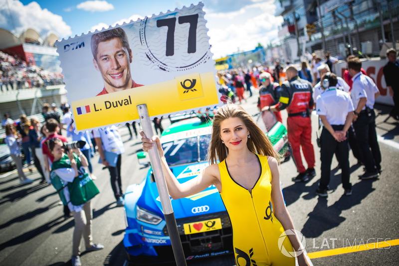 Chica de la parrilla de Loic Duval, Audi Sport Team Phoenix, Audi RS 5 DTM