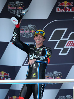 Podium:  second place Francesco Bagnaia, Sky Racing Team VR46