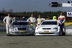 Bernd Schneider and Klaus Ludwig with Mercedes-Benz CLK, HWA AG;  Joachim Winkelhock and Manuel Reuter, Opel