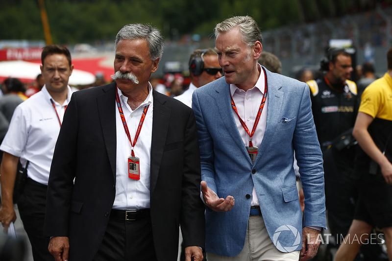 Chase Carey, Formel-1-Chef; Sean Bratches, Formel-1-Marketingchef