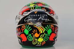Il casco di Sergio Perez, Sahara Force India F1