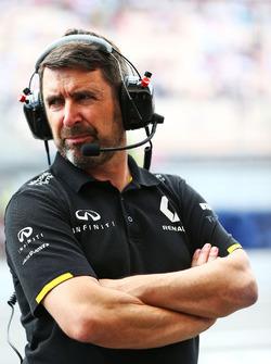 Greg Baker, chef-mécano Renault Sport F1 Team