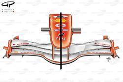Ferrari 248 F1 (657) 2006 front wing and nose comparison