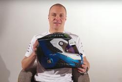 Valtteri Bottas, Mercedes AMG F1 presents his new helmet