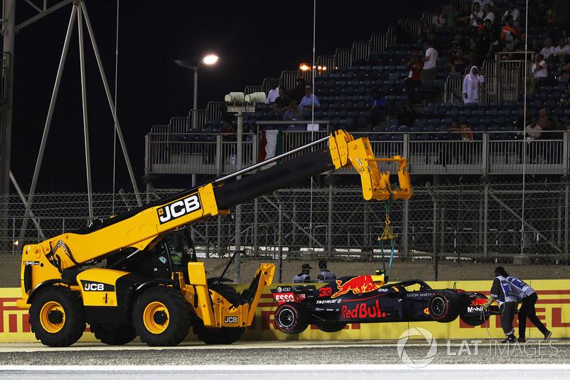 Accidente de Max Verstappen, Red Bull Racing RB14 Tag Heuer
