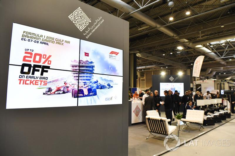 Fans race on the Bahrain International Circuit's simulators