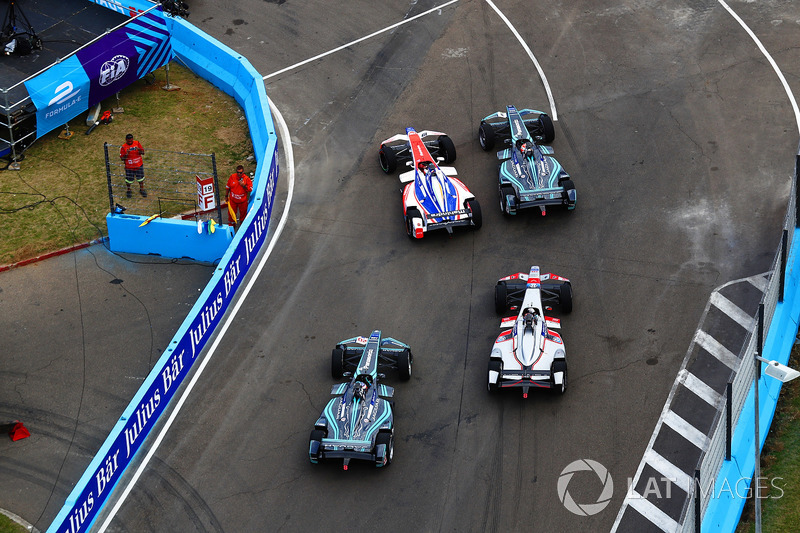 Felix Rosenqvist, Mahindra Racing, Nelson Piquet Jr., Jaguar Racing,Mitch Evans, Jaguar Racing, Maro Engel, Venturi Formula E Team
