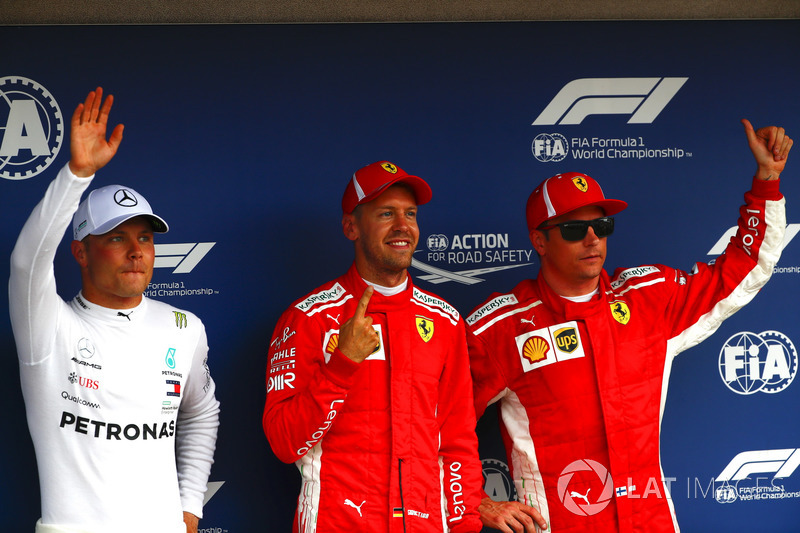 Valtteri Bottas, Mercedes AMG F1, Sebastian Vettel, Ferrari, Kimi Raikkonen, Ferrari