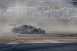 #11 Audi Sport Team WRT Audi R8 LMS: Stuart Leonard, Jake Dennis, Robin Frijns spins off