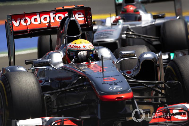 Lewis Hamilton, McLaren, Michael Schumacher, Mercedes AMG F1