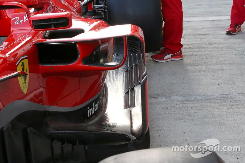 Ferrari SF71H, днище