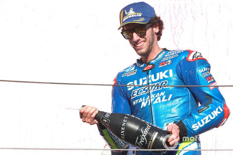 Podio: il terzo lassificato Alex Rins, Team Suzuki