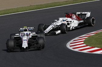 Sergey Sirotkin, Williams FW41 e Marcus Ericsson, Sauber C37