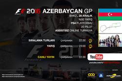 F1 2016 Turnuvası Bakü GP 2016