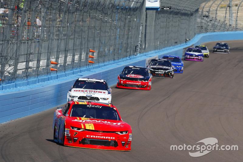 Justin Allgaier, JR Motorsports, Chevrolet; Ryan Blaney, Team Penske, Ford