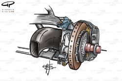 McLaren MP4-15 front brake duct (medium size)