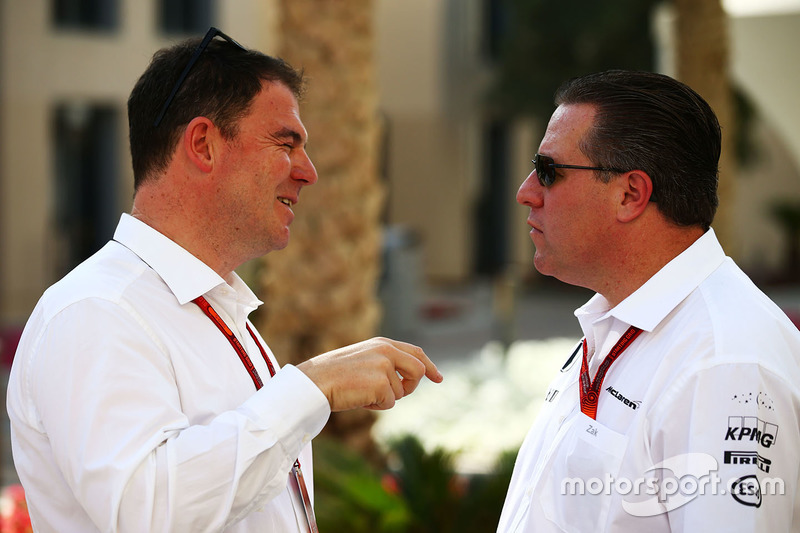 James Allen, periodista con Zak Brown, Director Ejecutivo de McLaren