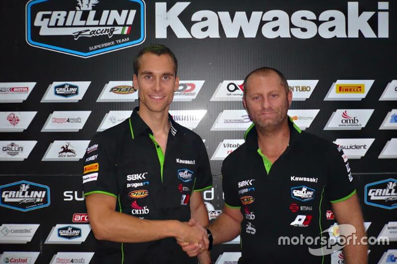 Ondrej Jezek, Andrea Grillini, manager del equipo Grillini