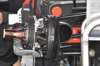 Haas F1 Team VF-17 front brake disc detail