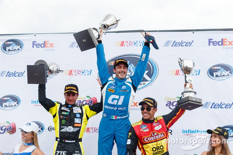 Podio: ganador de la carrera Michel Jourdain Jr. Jourdain Motorsports; segundo lugar Homero Richards H Richards y el tercer lugar Xavi Razo, 2b Racing