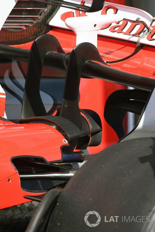 تفاصيل الجناح الخلفي لسيارة فيراري