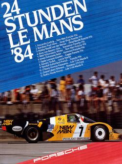 Poster: Porsche-Sieg bei den 24h Le Mans 1984