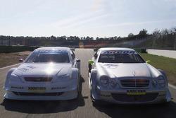 Mercedes-Benz CLK of Bernd Schneider, HWA AG and the Opel Astra V8 Coupe of Joachim Winkelhock