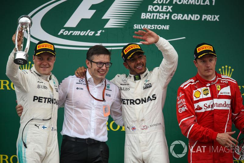 2017: 1. Lewis Hamilton, 2. Valtteri Bottas, 3. Kimi Räikkönen