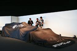 David Croft, Sky Sports con Sergio Pérez, Sahara Force India F1 y Esteban Ocon, Sahara Force India F1 Team