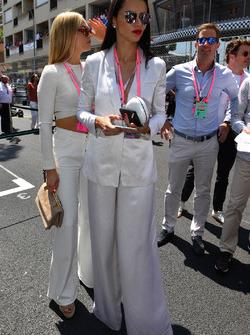 Adriana Lima, Model and Carmen Jorda, Renault Sport F1 Team RS17 Development Driver