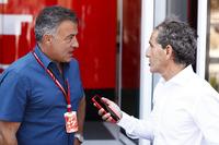 Jean Alesi y Alain Prost