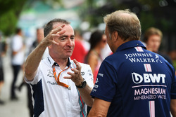 Paddy Lowe, azionista e Direttore Tecnico Williams e Robert Fearnley, Deputy Team Principal Sahara Force India F1 Team