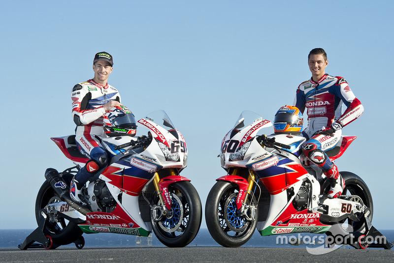 Nicky Hayden, Honda WSBK Team et Michael van der Mark, Honda WSBK Team