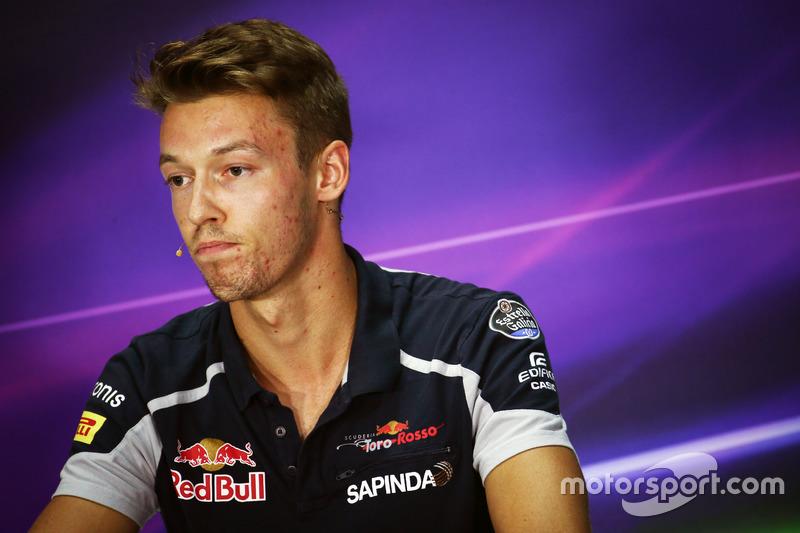 Daniil Kvyat, Scuderia Toro Rosso in the FIA Press Conference