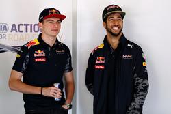 Max Verstappen, Red Bull Racing en Daniel Ricciardo, Red Bull Racing