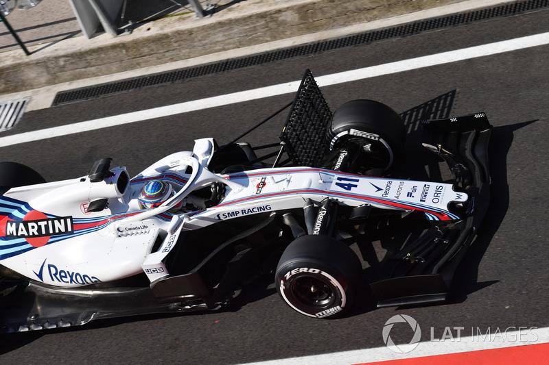 Oliver Rowland, Williams FW41 con parrillas aerodinámicas