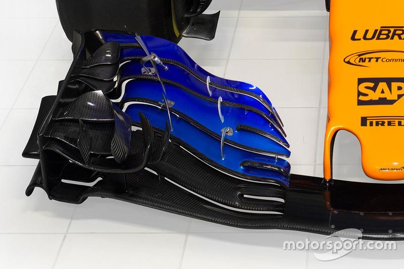 Детали переднего крыла McLaren MCL33