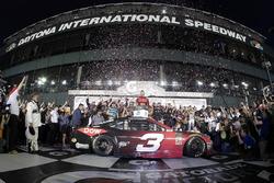 Austin Dillon, Richard Childress Racing Chevrolet Camaro celebrates his win