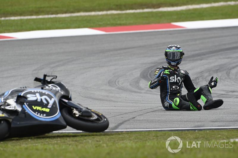 Stefano Manzi, Sky Racing Team VR46 caída