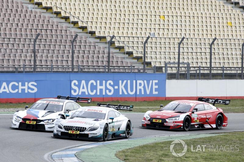 René Rast, Audi Sport Team Rosberg, Audi RS 5 DTM, Pascal Wehrlein, Mercedes-AMG Team HWA, Mercedes-AMG C63 DTM, Marco Wittmann, BMW Team RMG, BMW M4 DTM