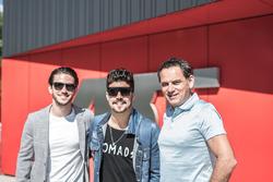 Daniel Abt, Caio Castro und Hans-Jürgen Abt