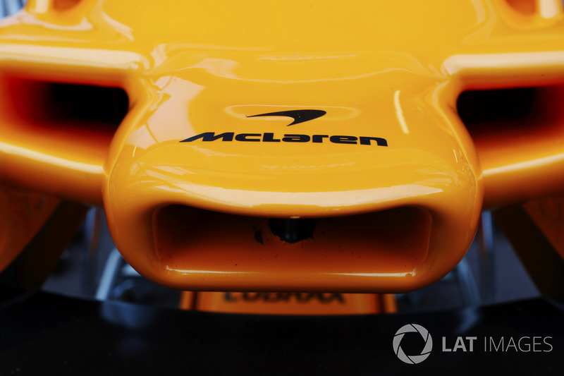 McLaren nose and logo detail